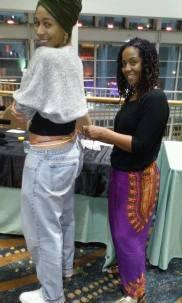 Zanetta waist beader, adorning this beautiful artist, Brionna Sorret