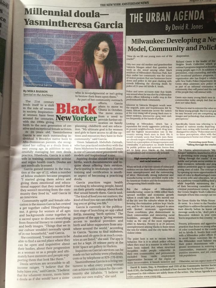 Millennial doula—Yasmintheresa Garcia